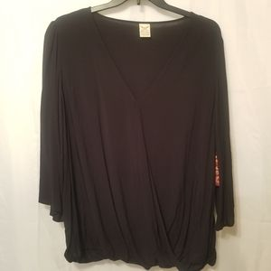 Faded Glory criss-cross womans blouse 3x